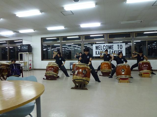 和太鼓部の演奏