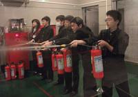 防災センターその1 消火器体験