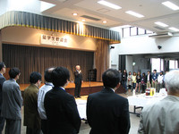 上林学長の挨拶