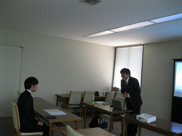 学内会社説明会の様子④